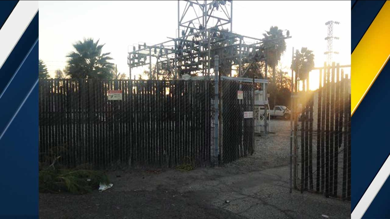 The scene where a man caught fire after climbing onto a transformer in Fullerton Saturday, Nov. 28, 2015.