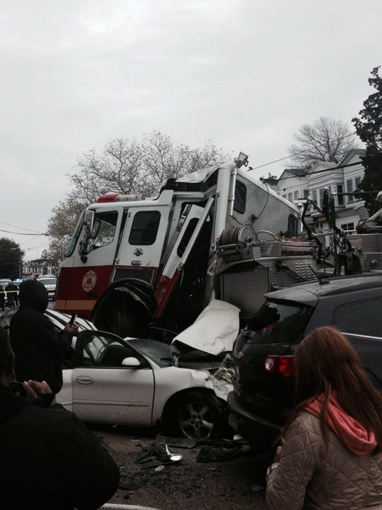 """<div class=""""meta image-caption""""><div class=""""origin-logo origin-image none""""><span>none</span></div><span class=""""caption-text"""">Viewer photo of an accident in West Philadelphia involving a fire truck. (Brian Hyland/ Twitter)</span></div>"""