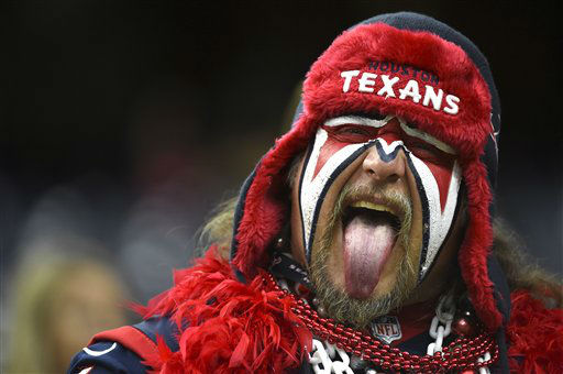 "<div class=""meta image-caption""><div class=""origin-logo origin-image none""><span>none</span></div><span class=""caption-text"">A Houston Texans fan sticks his tongue out before an NFL football game against the New Orleans Saints, Sunday, Nov. 29, 2015, in Houston (AP Photo/ Eric Christian Smith)</span></div>"