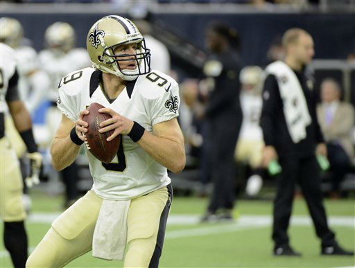 "<div class=""meta image-caption""><div class=""origin-logo origin-image none""><span>none</span></div><span class=""caption-text"">New Orleans Saints quarterback Drew Brees (9) warms up before an NFL football game (AP Photo/ George Bridges)</span></div>"
