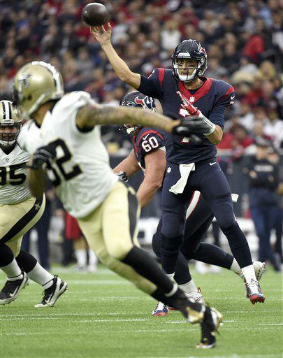 "<div class=""meta image-caption""><div class=""origin-logo origin-image none""><span>none</span></div><span class=""caption-text"">Houston Texans quarterback Brian Hoyer (7) throws a pass against the New Orleans Saints (AP Photo/ Eric Christian Smith)</span></div>"