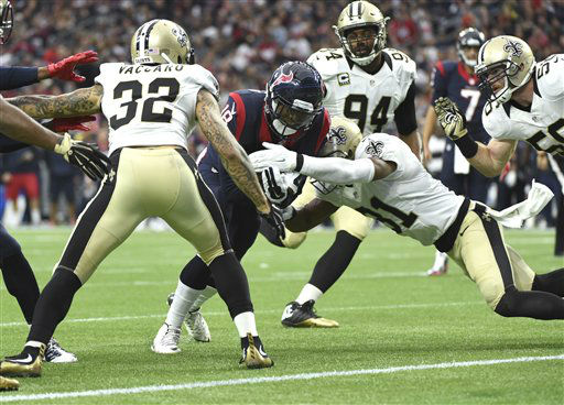 "<div class=""meta image-caption""><div class=""origin-logo origin-image none""><span>none</span></div><span class=""caption-text"">Houston Texans wide receiver Cecil Shorts (18) scores a touchdown as New Orleans Saints strong safety Kenny Vaccaro (32) and free safety Jairus Byrd (31) defend (AP Photo/ Eric Christian Smith)</span></div>"