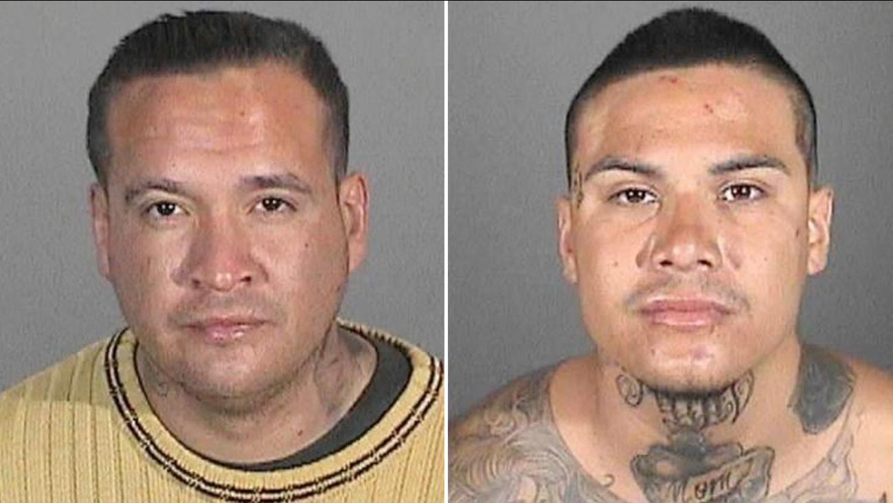 Martin Bautista, 33, is shown alongside a photo of Eric Daniel Deleon, 28.