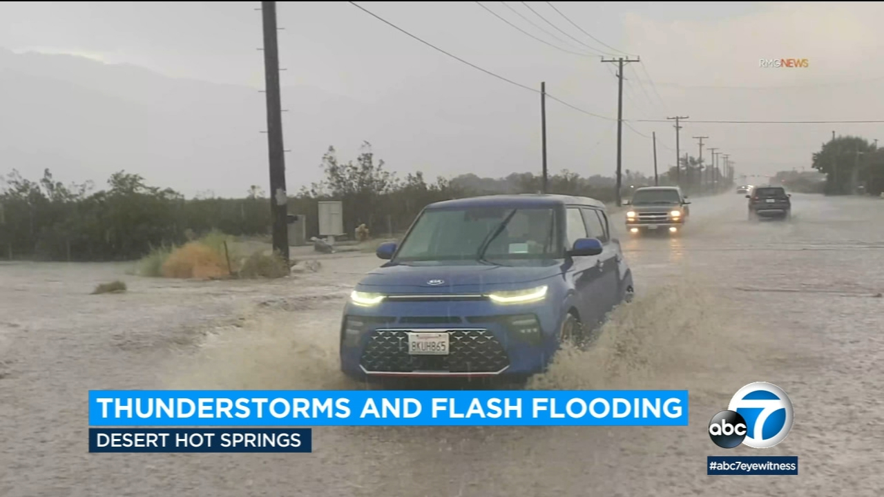 Video: Rain sweeps through parts of SoCal, bringing flash flooding and heavy downpours