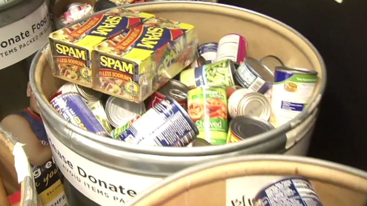 Students in San Mateo, Calif. have collected 150,000 pounds of food as of Monday, November 30, 2015.