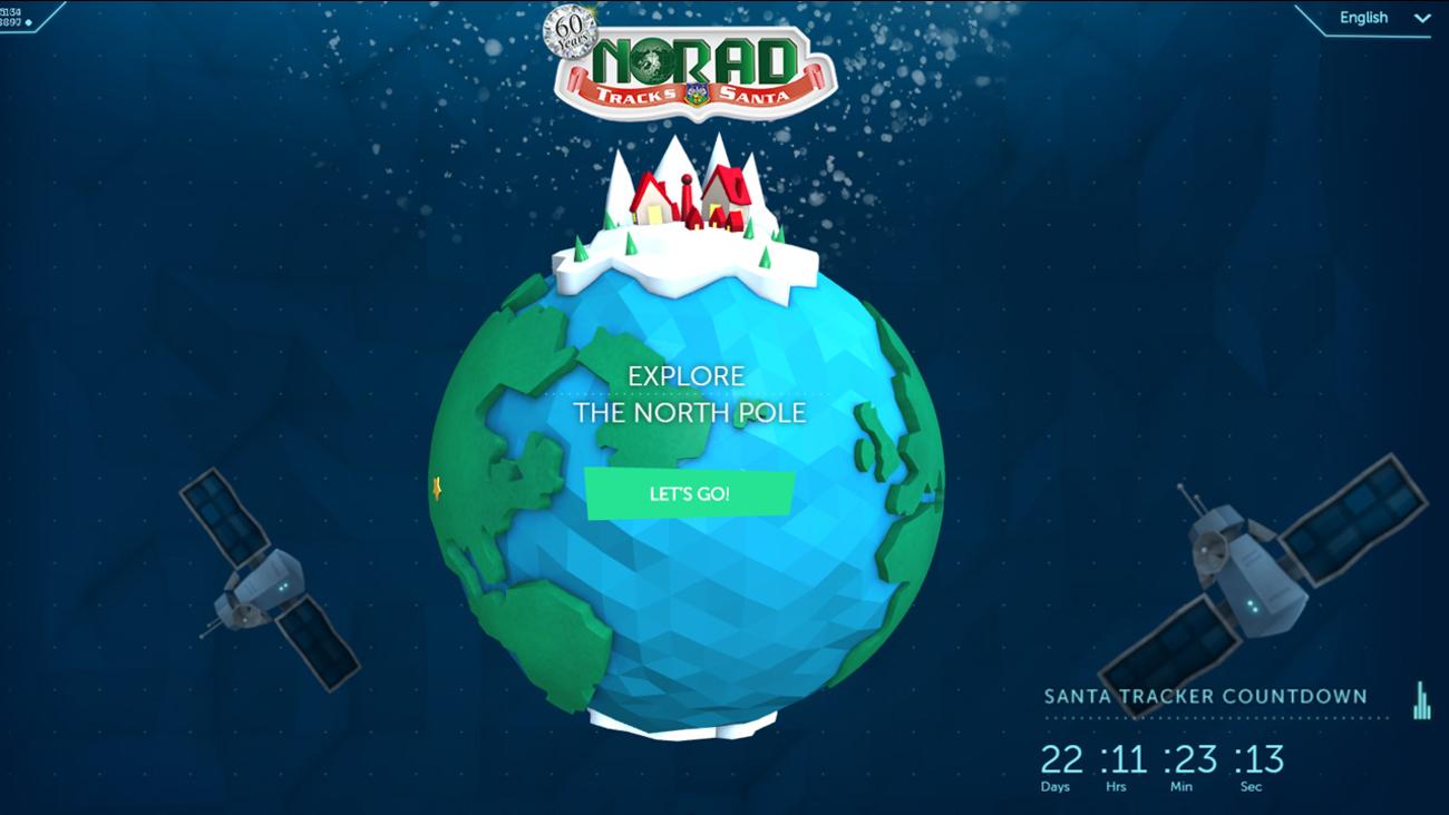 Homepage of noradsanta.org