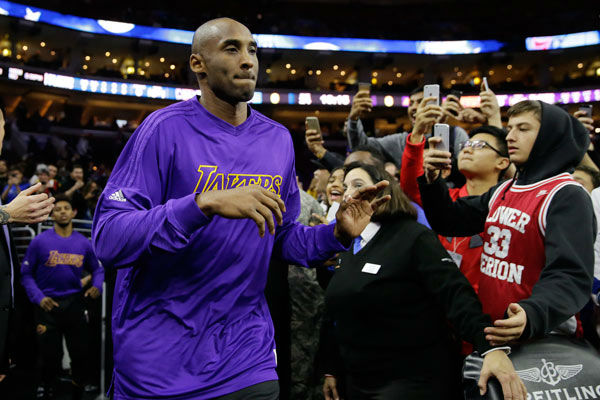 "<div class=""meta image-caption""><div class=""origin-logo origin-image none""><span>none</span></div><span class=""caption-text"">Los Angeles Lakers' Kobe Bryant runs onto the court ahead of a basketball game against the Philadelphia 76ers, Tuesday, Dec. 1, 2015, in Philadelphia. (Photo/Matt Rourke)</span></div>"