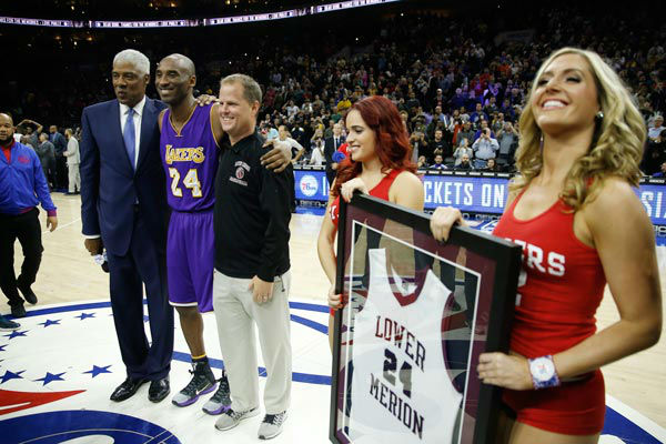 "<div class=""meta image-caption""><div class=""origin-logo origin-image none""><span>none</span></div><span class=""caption-text"">Former NBA player Julius Erving, left, poses for photographs with Los Angeles Lakers' Kobe Bryant, second left, ahead of a basketball game. (Photo/Matt Slocum)</span></div>"