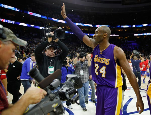 "<div class=""meta image-caption""><div class=""origin-logo origin-image ap""><span>AP</span></div><span class=""caption-text"">Los Angeles Lakers' Kobe Bryant waves to the crowd after an NBA basketball game against the Philadelphia 76ers, Tuesday, Dec. 1, 2015, in Philadelphia (AP Photo/Matt Slocum)</span></div>"
