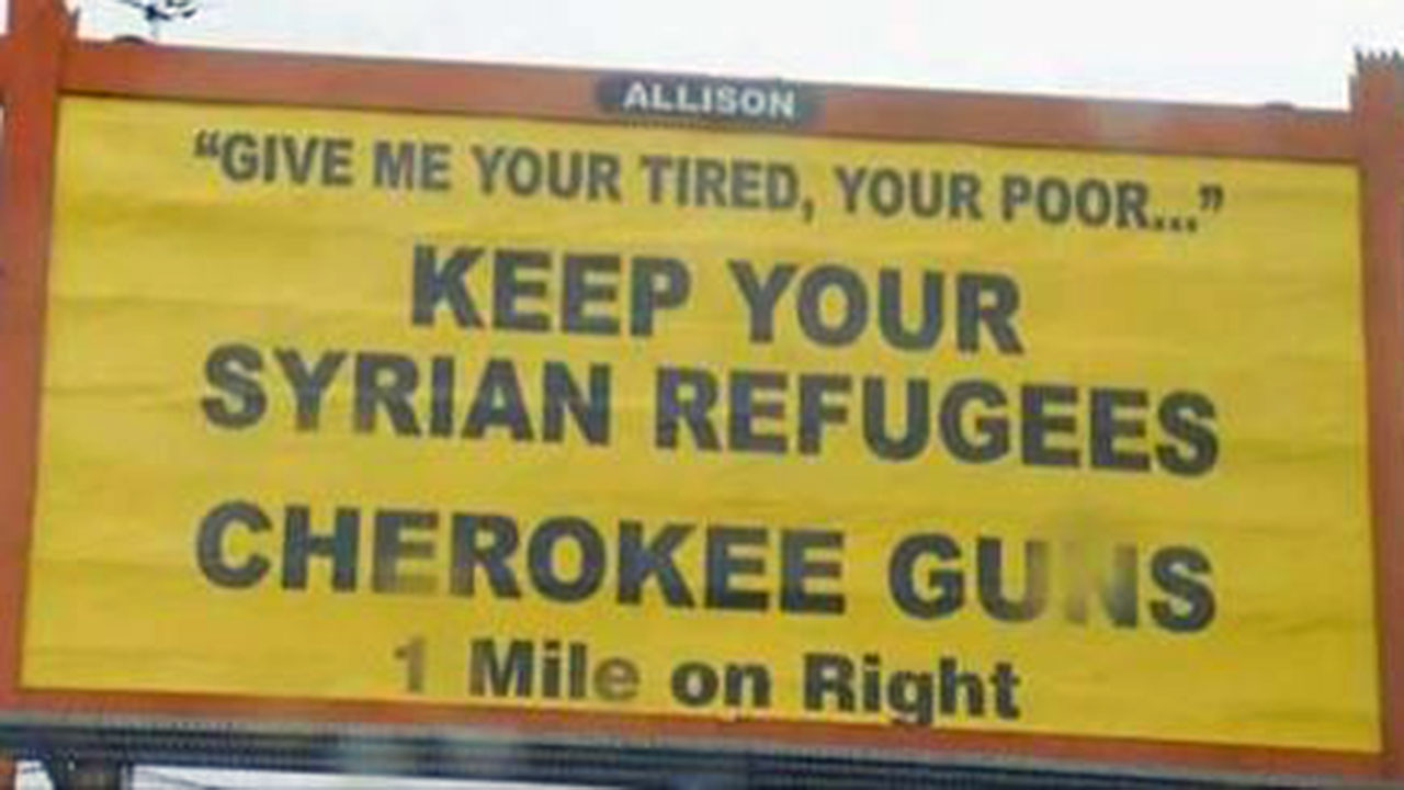 Billboard in Murphy, North Carolina