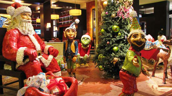 "<div class=""meta image-caption""><div class=""origin-logo origin-image none""><span>none</span></div><span class=""caption-text"">The holiday display at the Hilton Americas-Houston is complete with Santa, his sleigh, elves, and reindeer and more. (KTRK Photo)</span></div>"