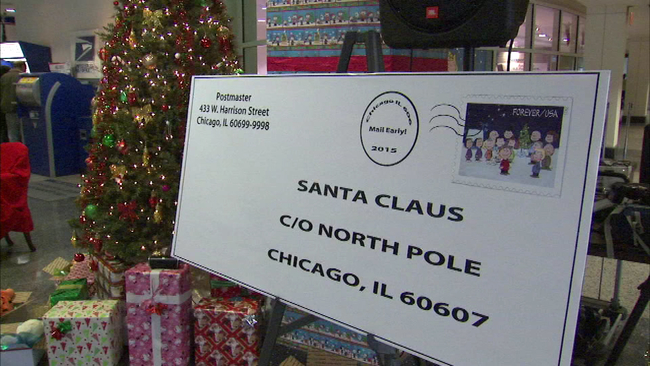 operation santa begins at chicagos old main post office abc7chicagocom - Christmas Eve Post Office Hours