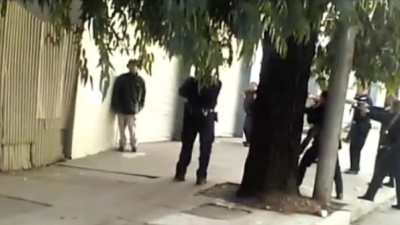 suspect shot by SFPD