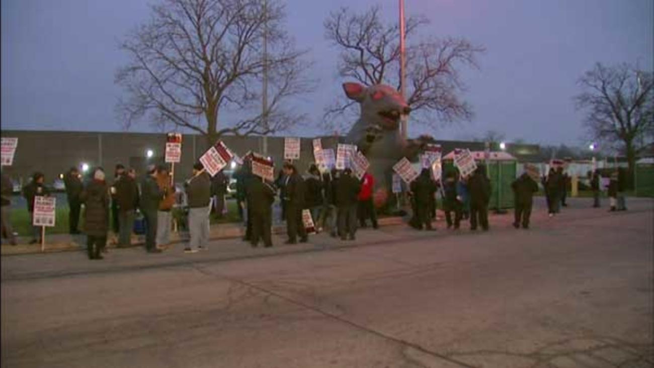 More than 300 suburban Coca-Cola workers went on strike Thursday morning. The Teamsters union members are protesting what they call unfair labor practices.