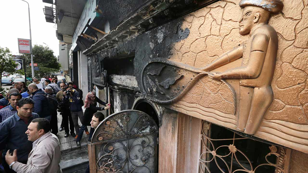 Egypt: 16 killed in firebomb attack at small nightclub