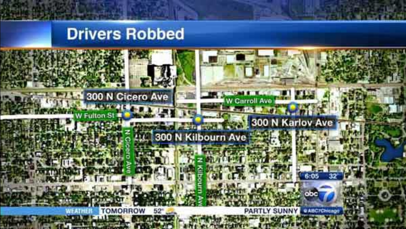 Police are warning cab drivers of a rash of robberies in Chicago's West Garfield Park neighborhood.