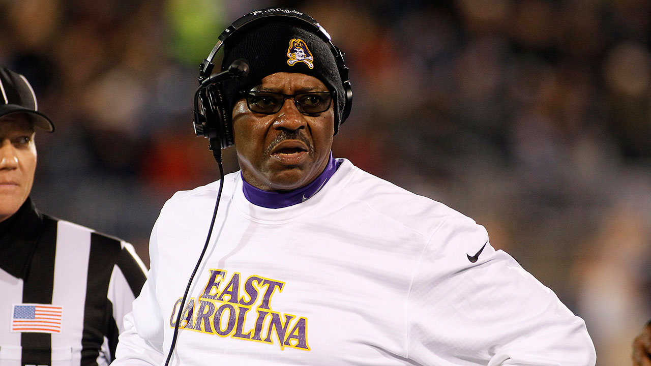 East Carolina head coach Ruffin McNeill