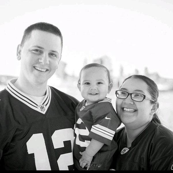 Aurora Godoy, 26, of San Jacinto is seen with her family.