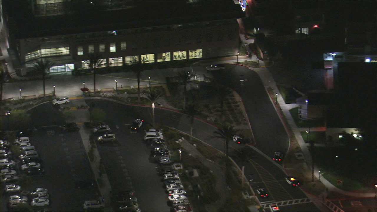 Pomona police investigate a suspicious box found at Pomona Valley Medical Center Friday, Dec. 4, 2015.