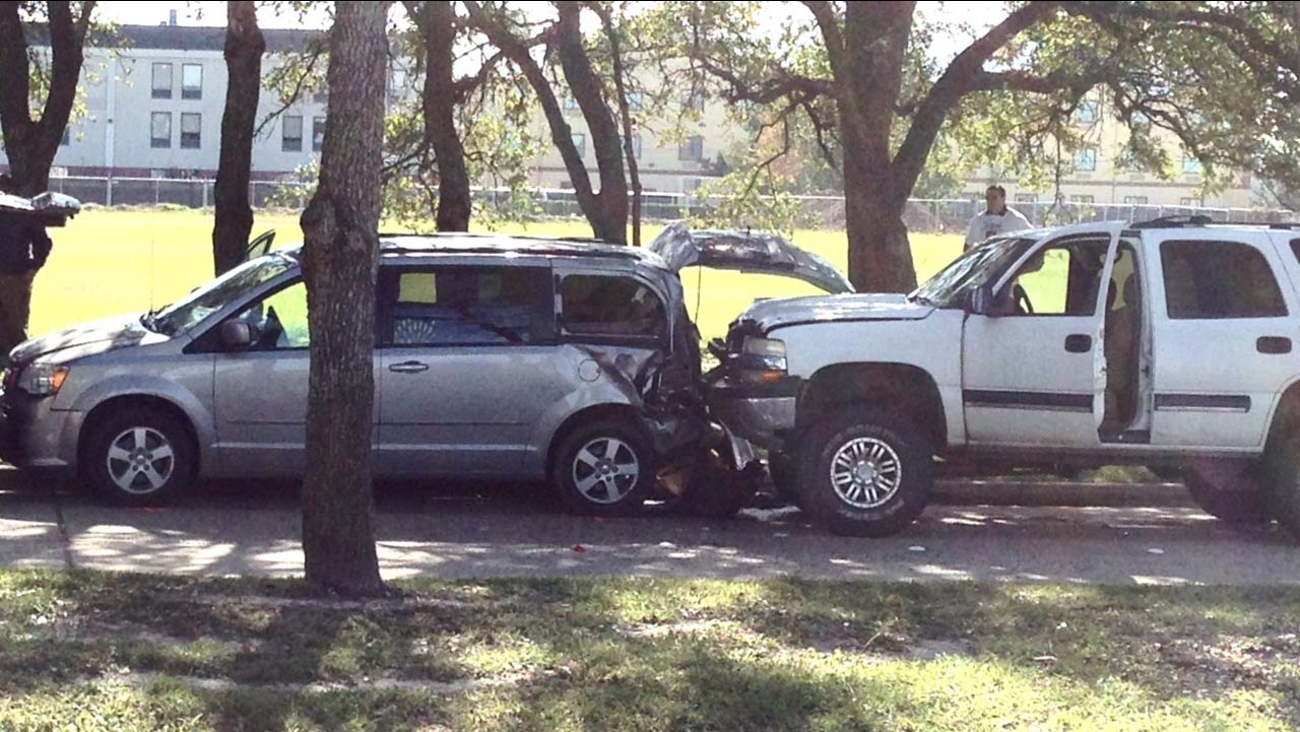 A woman was struck by an SUV in Baytown