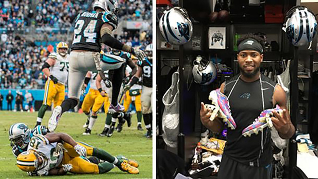 Josh Norman's military cleats, gloves auctioned off for good cause