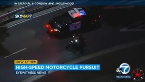 加州高速警察从橙县到Inglewood追击驾驶摩托车的罪犯