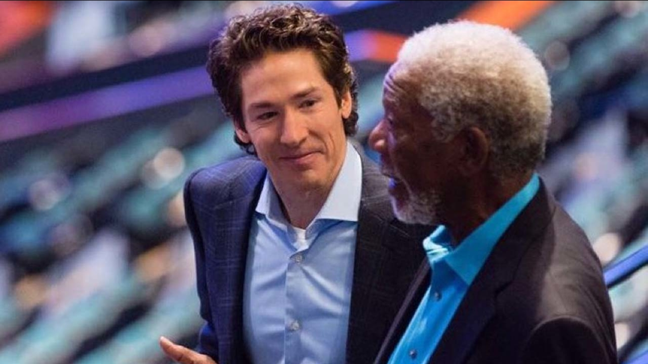 Joel Osteen and Morgan Freeman