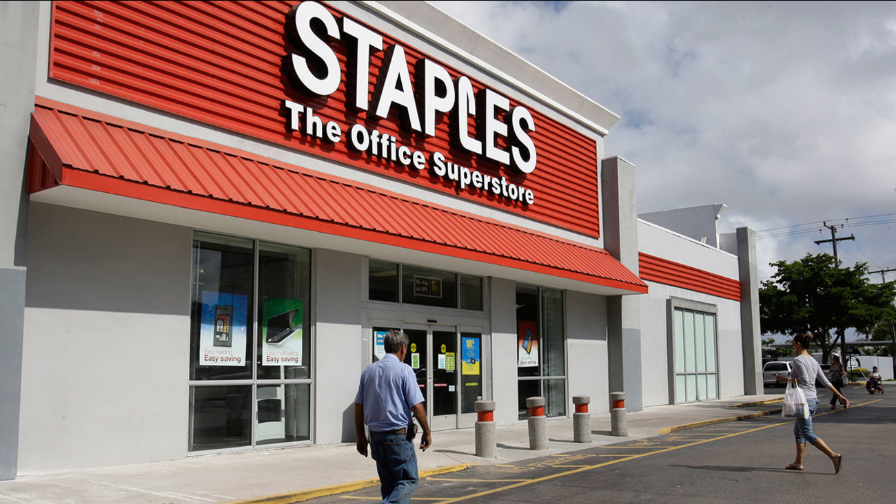 Staples office supply store