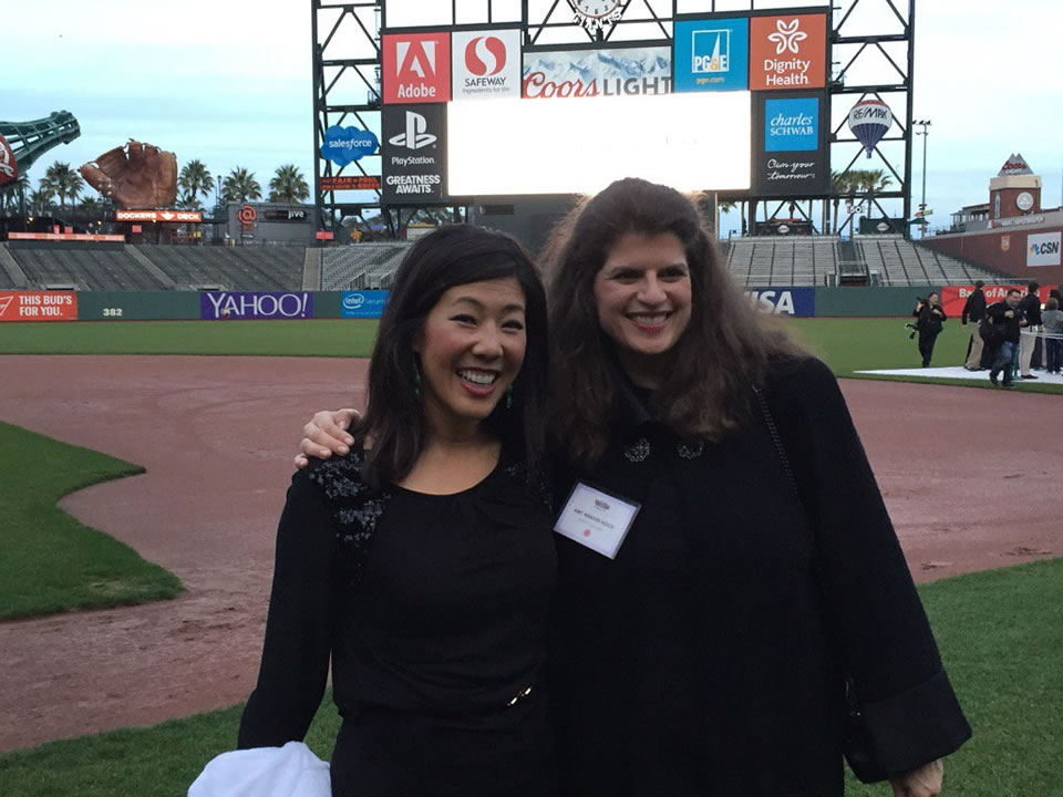 "<div class=""meta image-caption""><div class=""origin-logo origin-image none""><span>none</span></div><span class=""caption-text"">ABC7 News Anchor Kristen Sze poses with Wender-Weis Foundation founder Amy Wender-Hoch at the Holiday Heroes event at AT&T Park in San Francisco on Monday, December 7, 2015. (Kristen Sze/KGO-TV)</span></div>"