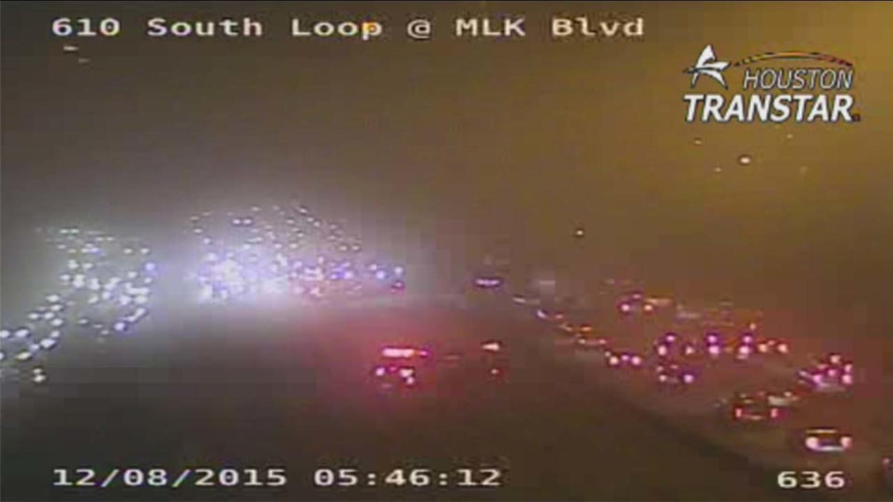 Car fire backup on 610 South Loop at MLK