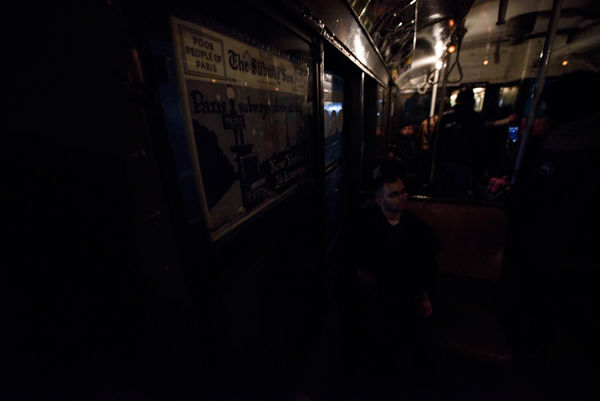 """<div class=""""meta image-caption""""><div class=""""origin-logo origin-image none""""><span>none</span></div><span class=""""caption-text"""">The lights flicker and occassionally go out on MTA's 'nostalgia train,' which is running on Sundays in December. (WABC Photo/ Mike Waterhouse)</span></div>"""