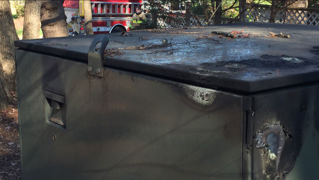 Transformer explosion on Bridgeport Drive, off Creedmoor Road in Raleigh