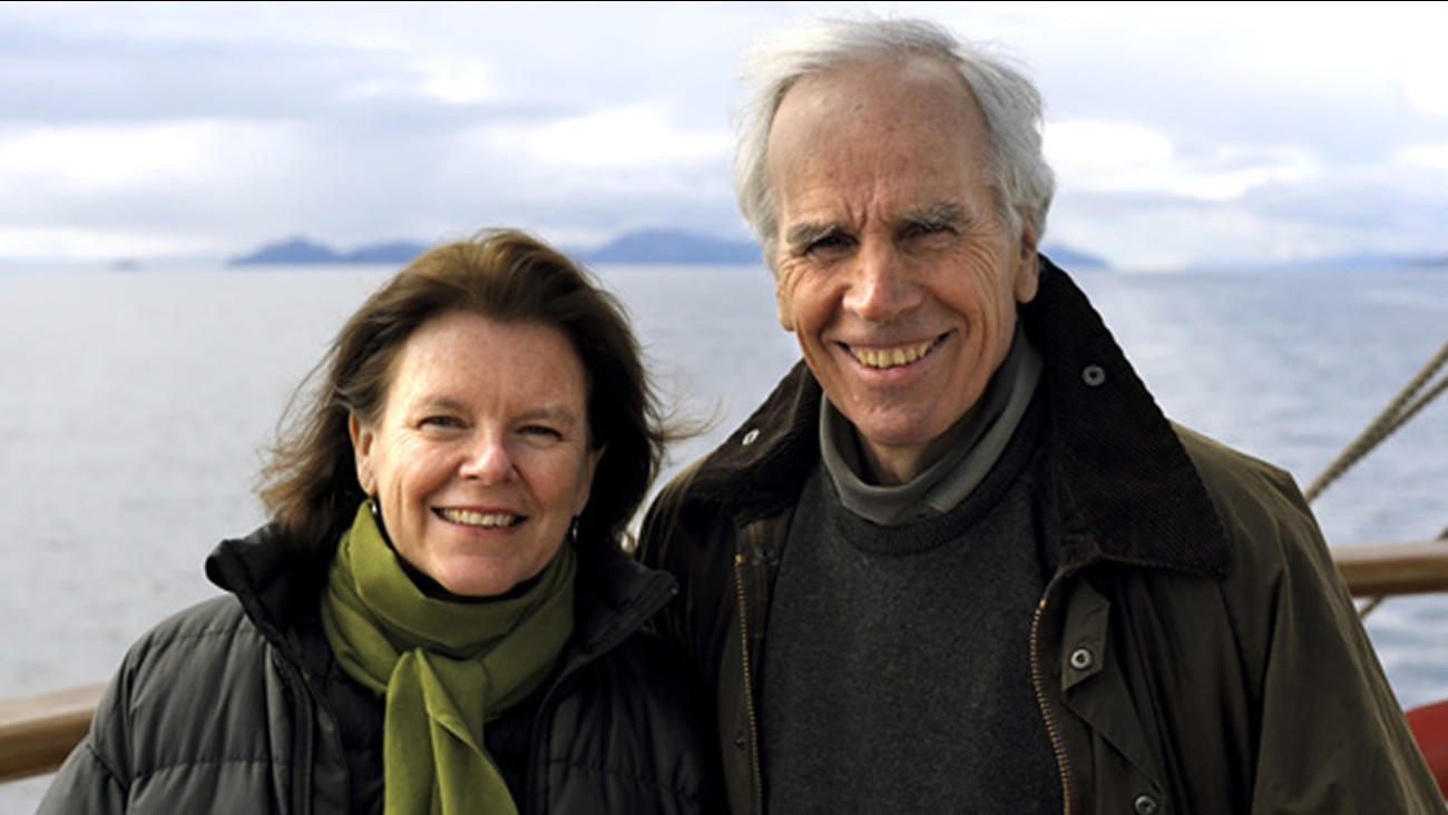Kris Tompkins, left, and Doug Tompkins, right