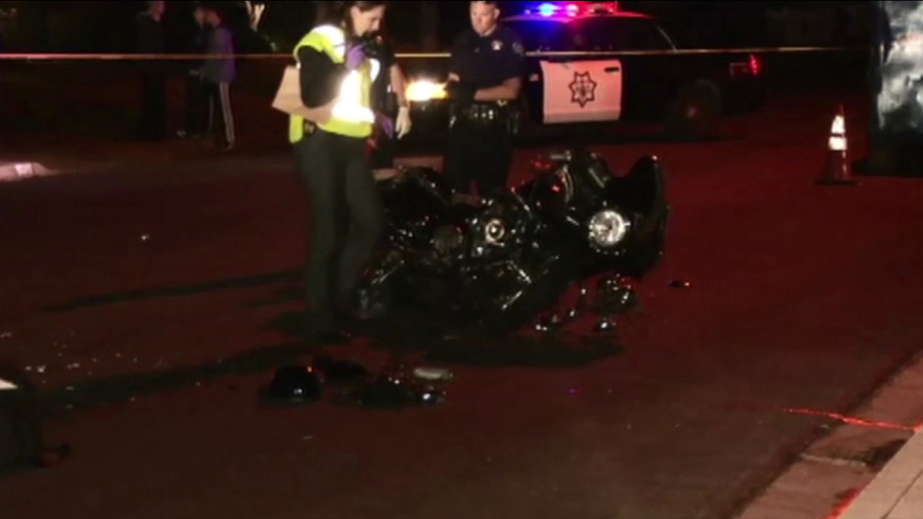 Police investigate fatal motorcycle accident in Redwood City.