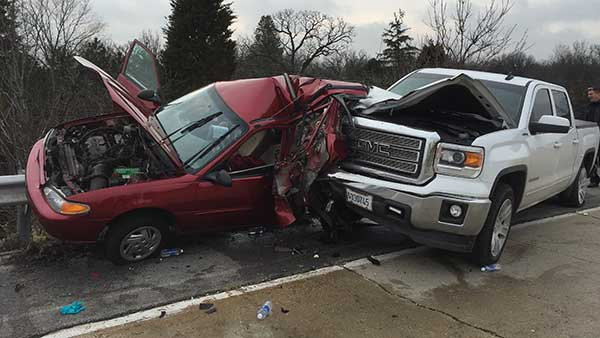 An 86-year-old woman died in a crash on west suburban Oak Brook.