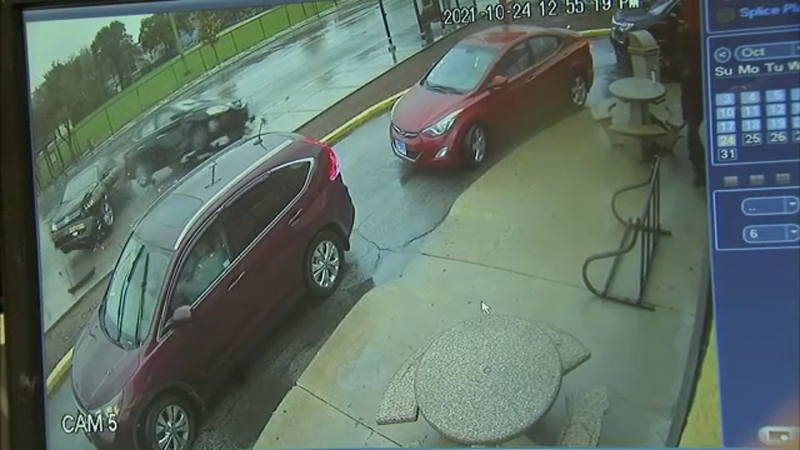 Video shows moments after shooting, crash
