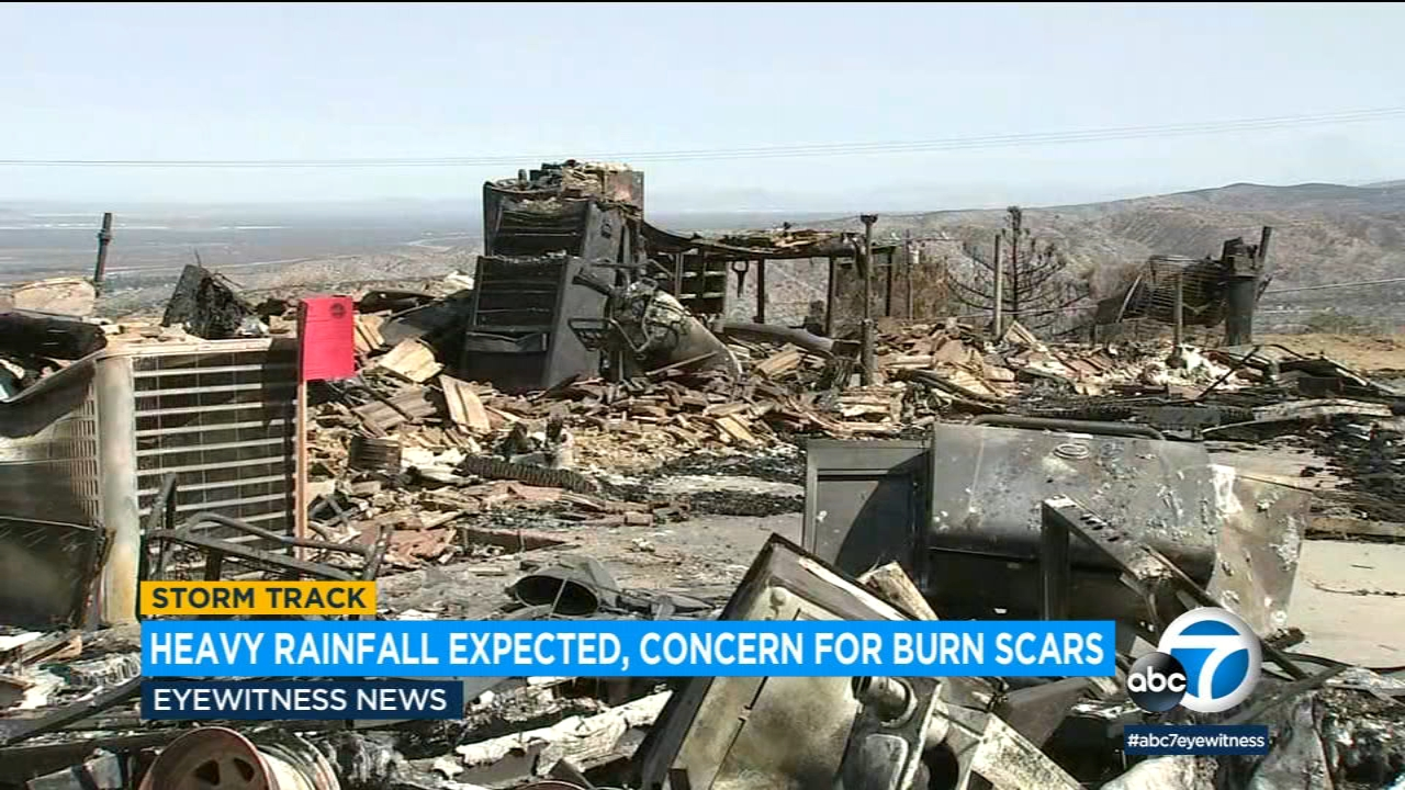 Residents in recent burn areas asked to stay alert as storm approaches SoCal