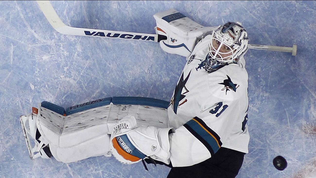 San Jose Sharks' Martin Jones