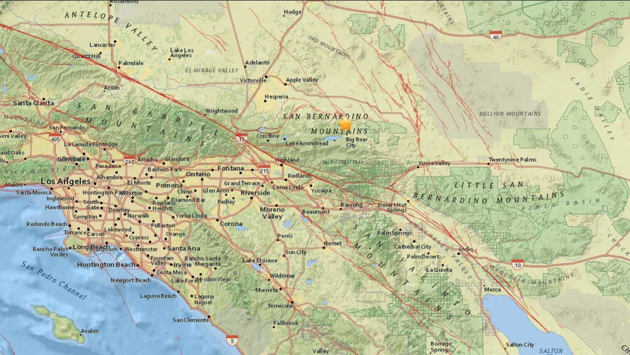 This map from the U.S. Geological Survey indicates the location of a 3.0-magnitude earthquake that struck the area on Thursday, Dec. 10, 2015.