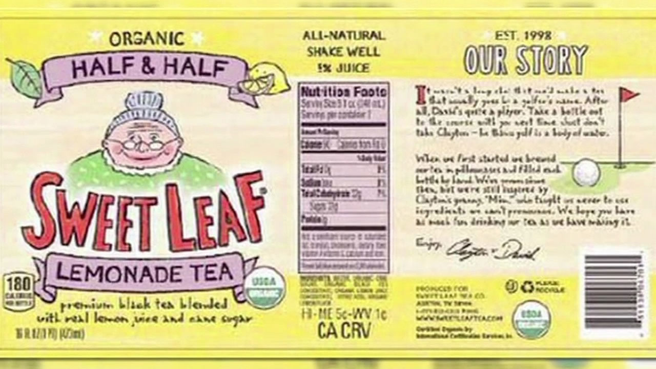 Sweet Leaf Iced Tea bottle label