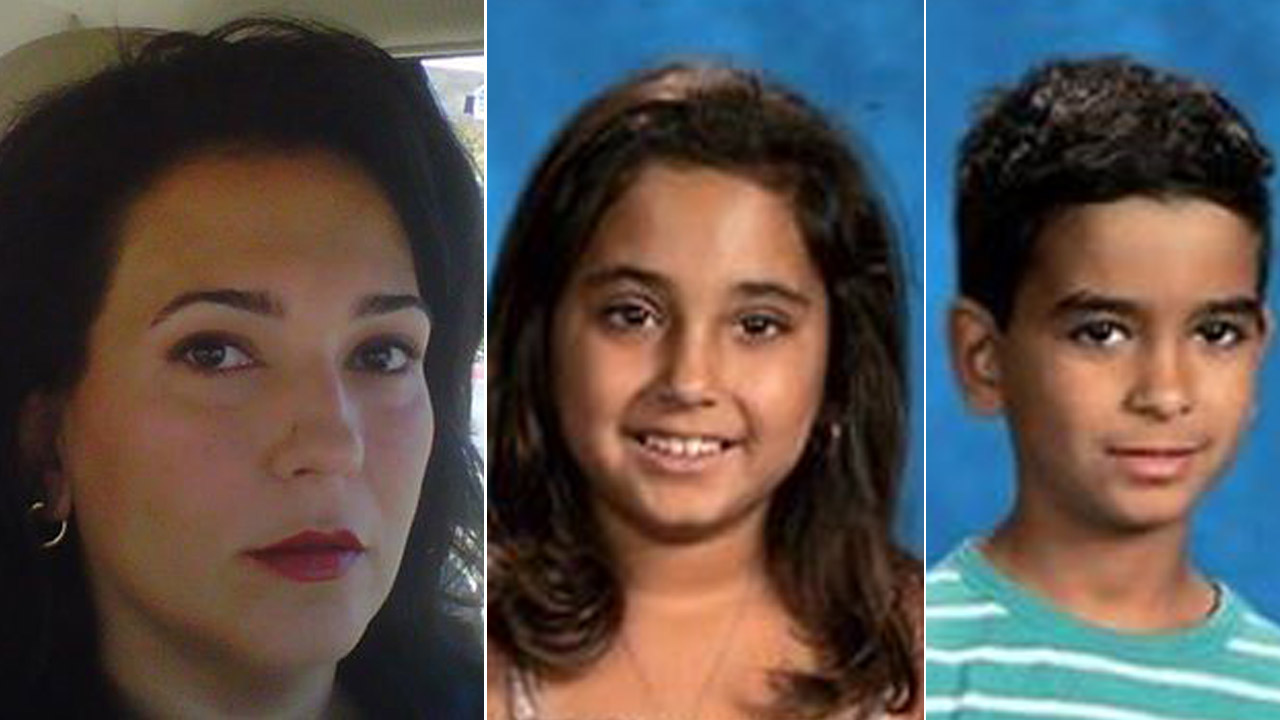 Shahrzad Talieh, 45, is shown alongside photos of her twin children Shiraz Dejbakhsh, 8, and Pasha Dejbakhsh, 8.