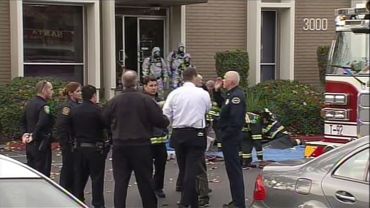 The Council on American-Islamic Relations office in Santa Clara, Calif. was evacuated on Thursday, December 10, 2015 after an envelope with a suspicious powder was discovered.