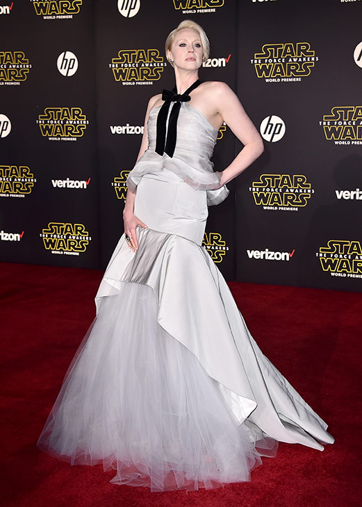 "<div class=""meta image-caption""><div class=""origin-logo origin-image ap""><span>AP</span></div><span class=""caption-text"">Gwendoline Christie arrives at the world premiere of 'Star Wars: The Force Awakens' at the TCL Chinese Theatre on Monday, Dec. 14, 2015, in Los Angeles. (Photo by Jordan Strauss/Invision)</span></div>"