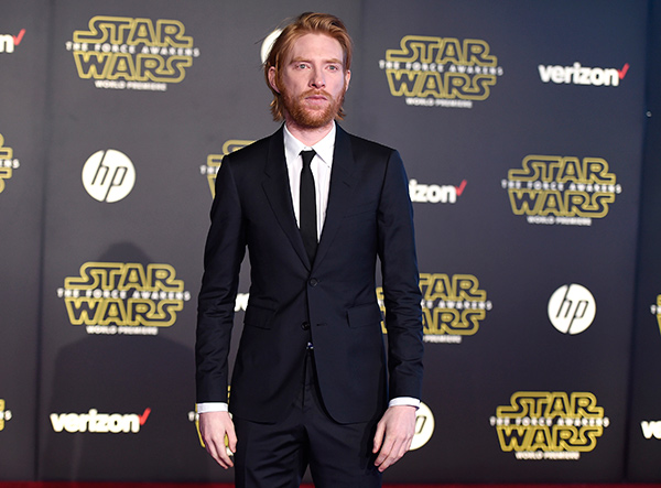 "<div class=""meta image-caption""><div class=""origin-logo origin-image ap""><span>AP</span></div><span class=""caption-text"">Domhnall Gleeson arrives at the world premiere of 'Star Wars: The Force Awakens' at the TCL Chinese Theatre on Monday, Dec. 14, 2015, in Los Angeles. (Photo by Jordan Strauss/Invision)</span></div>"