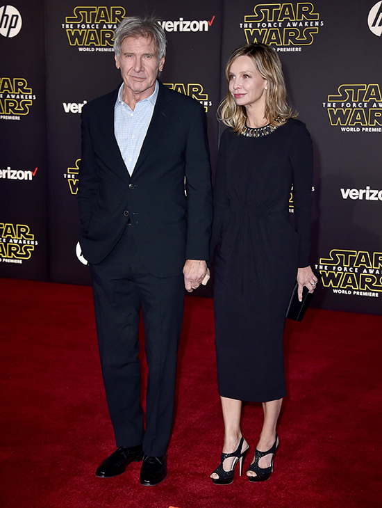 "<div class=""meta image-caption""><div class=""origin-logo origin-image ap""><span>AP</span></div><span class=""caption-text"">Harrison Ford, left, and Calista Flockhart arrive at the world premiere of 'Star Wars: The Force Awakens' at the TCL Chinese Theatre on Monday, Dec. 14, 2015, in Los Angeles. (Photo by Jordan Strauss/Invision)</span></div>"