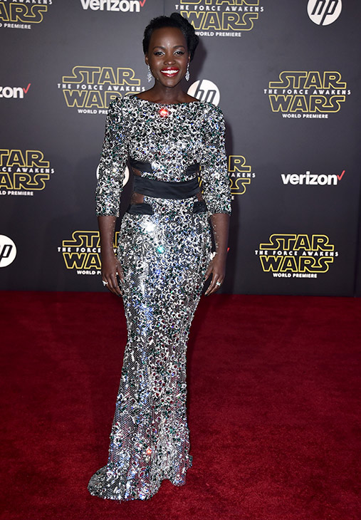 "<div class=""meta image-caption""><div class=""origin-logo origin-image ap""><span>AP</span></div><span class=""caption-text"">Lupita Nyong'o arrives at the world premiere of 'Star Wars: The Force Awakens' at the TCL Chinese Theatre on Monday, Dec. 14, 2015, in Los Angeles. (Photo by Jordan Strauss/Invision)</span></div>"