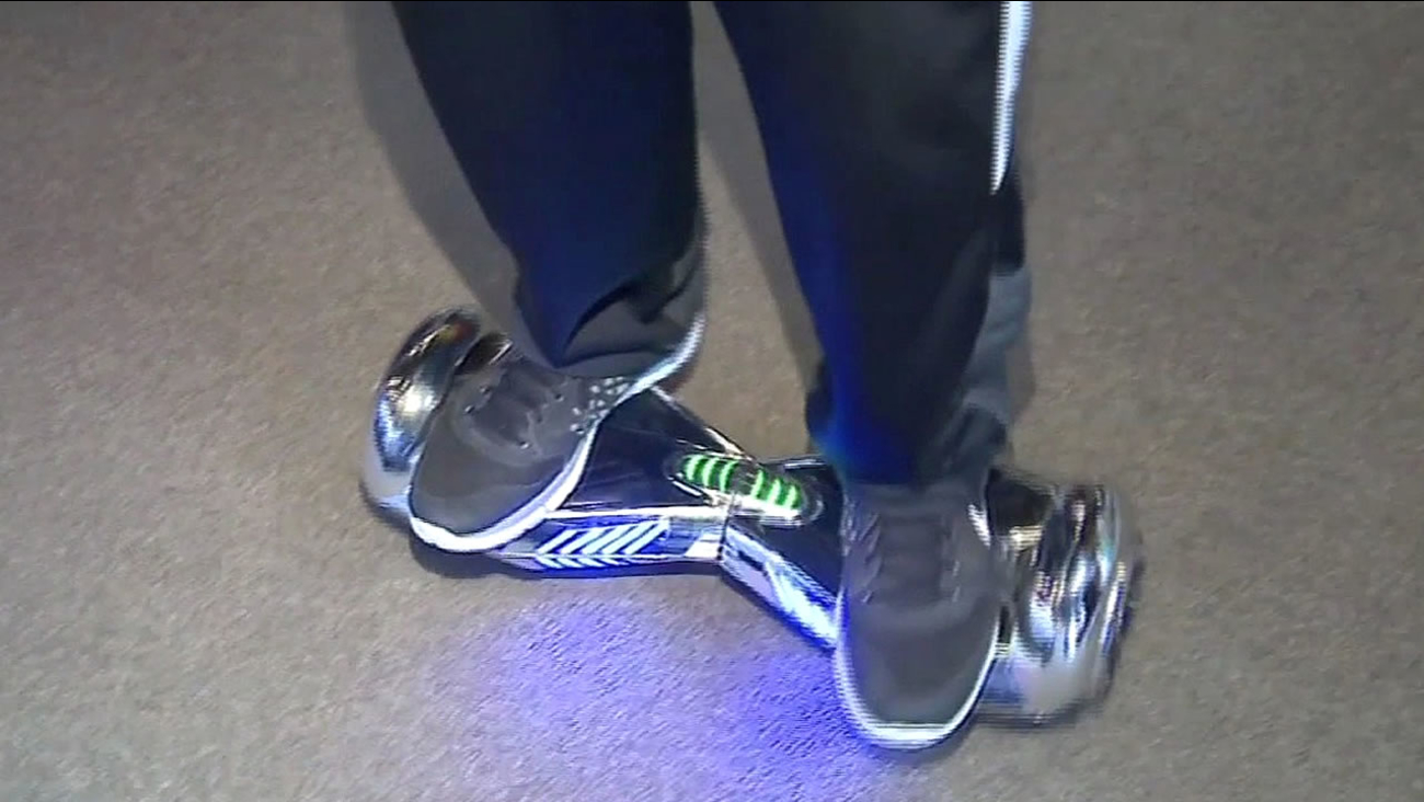 A person is seen on a hoverboard in this undated image.