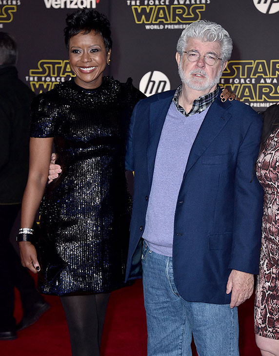"<div class=""meta image-caption""><div class=""origin-logo origin-image ap""><span>AP</span></div><span class=""caption-text"">Mellody Hobson, left, and George Lucas arrive at the world premiere of 'Star Wars: The Force Awakens' at the TCL Chinese Theatre on Monday, Dec. 14, 2015, in Los Angeles. (Photo by Jordan Strauss/Invision)</span></div>"