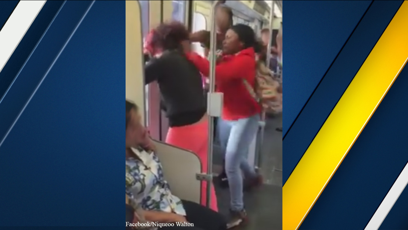 Los Angeles County Sheriff's Department Transit deputies hope people will come forward with information after an assault on a train was recorded on Tuesday, Dec. 8, 2015.