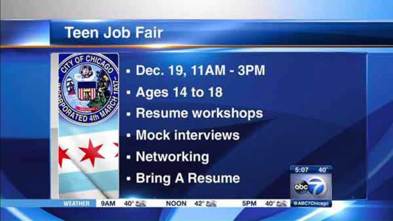 Teens looking for a summer job should plan on heading to Soldier Field this weekend.